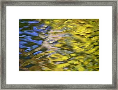 Mojave Gold Mosaic Abstract Art Framed Print by Christina Rollo