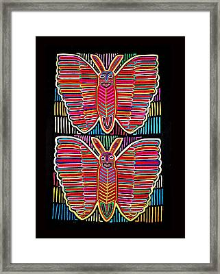 Mola Butterflies Framed Print by Sherry Thorup