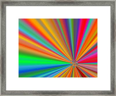 Molecule Framed Print by Kelly McManus