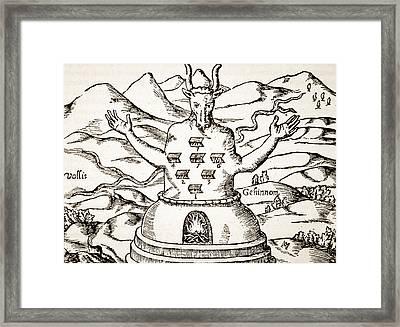 Moloch Framed Print by Italian School
