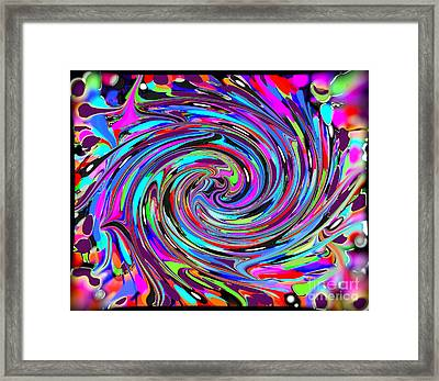 Molten Color Framed Print by RJ Aguilar