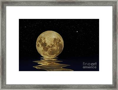 Molten Moon Framed Print by Kaye Menner