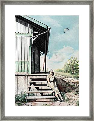 Mom With Rose Framed Print by David Neace