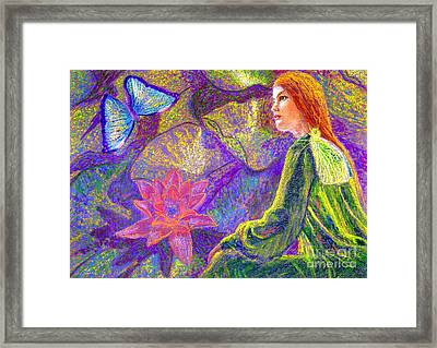 Meditation, Moment Of Oneness Framed Print by Jane Small