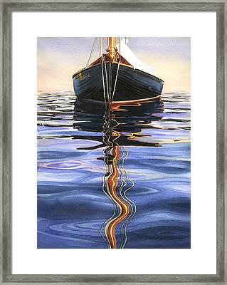 Moment Of Reflection Vi Framed Print by Marguerite Chadwick-Juner