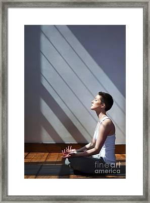 Moment Of Zen Framed Print by Diane Diederich