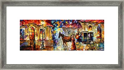 Momentary Stop Framed Print by Leonid Afremov
