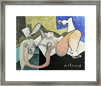 Momentis  The Note Sadness Framed Print by Mark M  Mellon