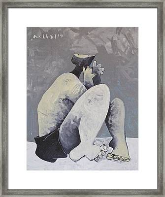 Moments The Accused Solo  Framed Print by Mark M  Mellon