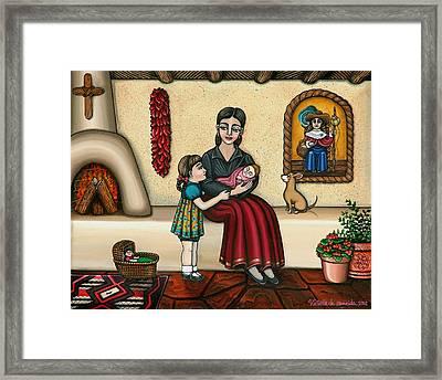 Momma Do You Love Me? Framed Print by Victoria De Almeida