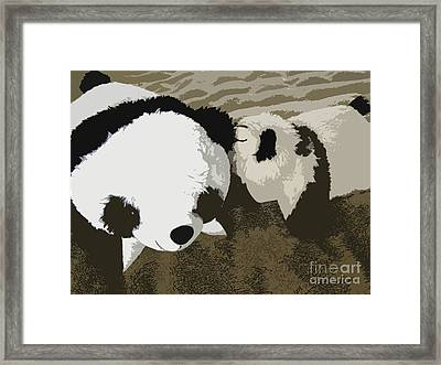 Mommy Mommy I Will Tell You A Secret Framed Print by Ausra Paulauskaite