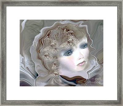 Mona Framed Print by Doris Wood