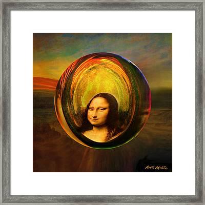 Mona Lisa Circondata Framed Print by Robin Moline