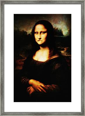 Mona Lisa Take One Framed Print by Bill Cannon
