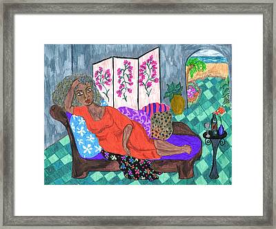 Mona Framed Print by Stacey Torres