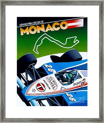 Monaco Framed Print by Gavin Macloud