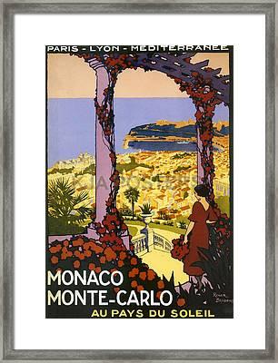 Monaco - Monte Carlo Framed Print by Georgia Fowler