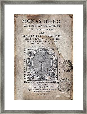 Monas Hieroglyphica (1591) Framed Print by Middle Temple Library