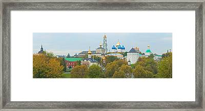 Monastery And Cathedral In A City Framed Print by Panoramic Images