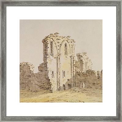Monastery Ruins Framed Print by Caspar David Friedrich