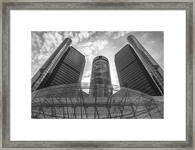 Monday Night Football And Renaissance Center  Framed Print by John McGraw