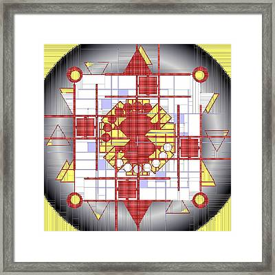 Mondrian Plaid Fx Framed Print by Mario Carini
