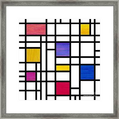 Mondrianish Framed Print by David K Small