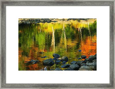Monet Autumnal 02 Framed Print by Aimelle