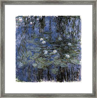 Monet, Claude 1840-1926. Blue Framed Print by Everett