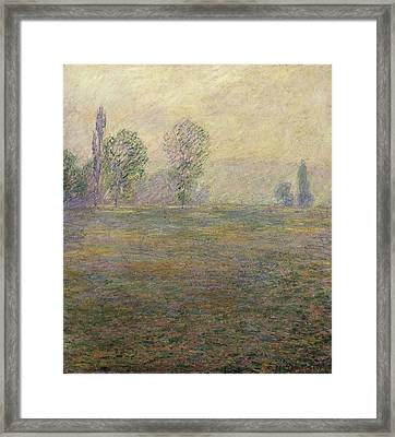 Monet, Claude 1840-1926. Meadows Framed Print by Everett