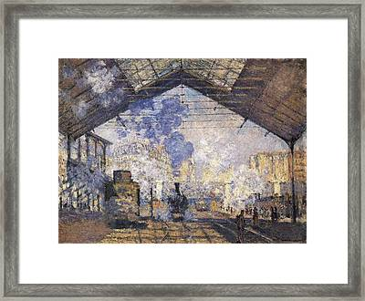 Monet, Claude 1840-1926. The Gare St Framed Print by Everett