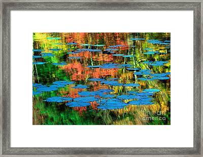 Monet Reflection Framed Print by Inge Johnsson