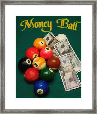 Money Ball Framed Print by Frederick Kenney