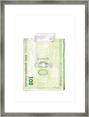 Money Clip Framed Print by Giuliano Capogrossi Colognesi