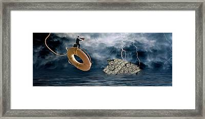 Money House Under Water Framed Print by Panoramic Images
