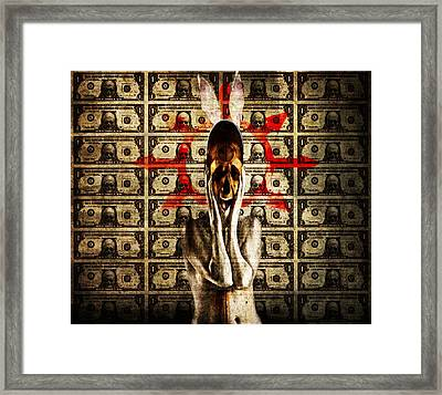 Money Framed Print by Johan Lilja