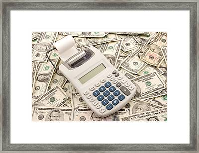 Money Framed Print by Keith Webber Jr