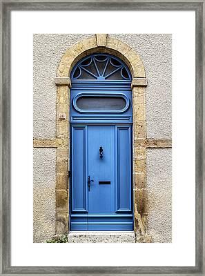 Monflanquin Door Framed Print by Georgia Fowler