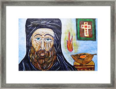 Monk 2 Framed Print by Sarah Loft