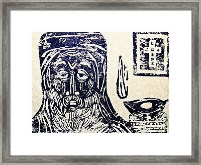 Monk 5 Framed Print by Sarah Loft