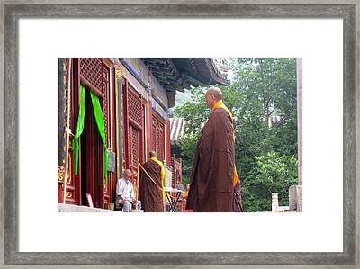 Monk Framed Print by Michael Fitzpatrick