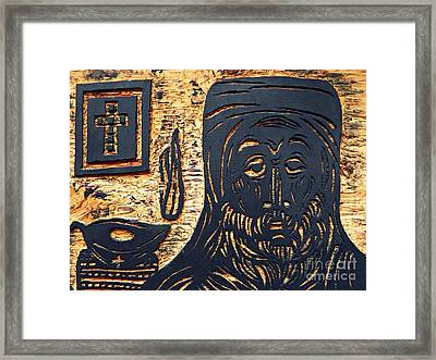 Monk Framed Print by Sarah Loft