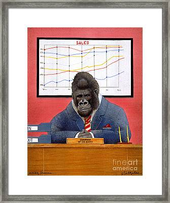 Monkey Business... Framed Print by Will Bullas