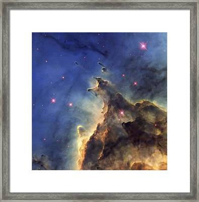 Monkey Head Nebula, Hst Image Framed Print by Science Photo Library
