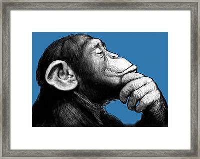 Monkey Pop Art Drawing Sketch Framed Print by Kim Wang