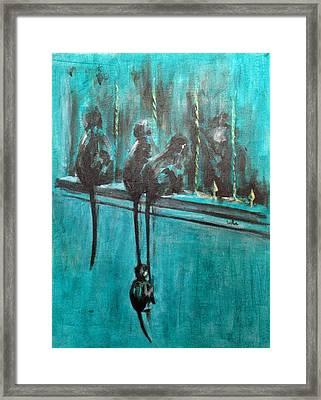Monkey Swing Framed Print by Usha Shantharam