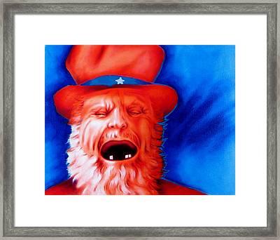 Monkey's Uncle Framed Print by Robert Martinez