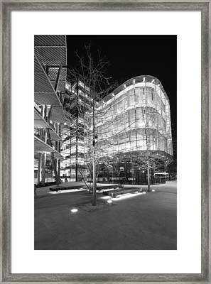 Monochrome Facades  Framed Print by Ollie Taylor
