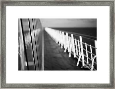 Monochrome Sun Deck Framed Print by Anne Gilbert
