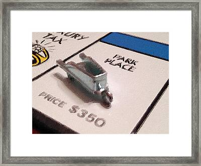Monopoly Board Custom Painting Park Place Framed Print by Tony Rubino